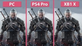 [4K] Witcher 3 – PC vs. PS4 Pro vs. Xbox One X 4K Mode Frame Rate Test & Graphics Comparison