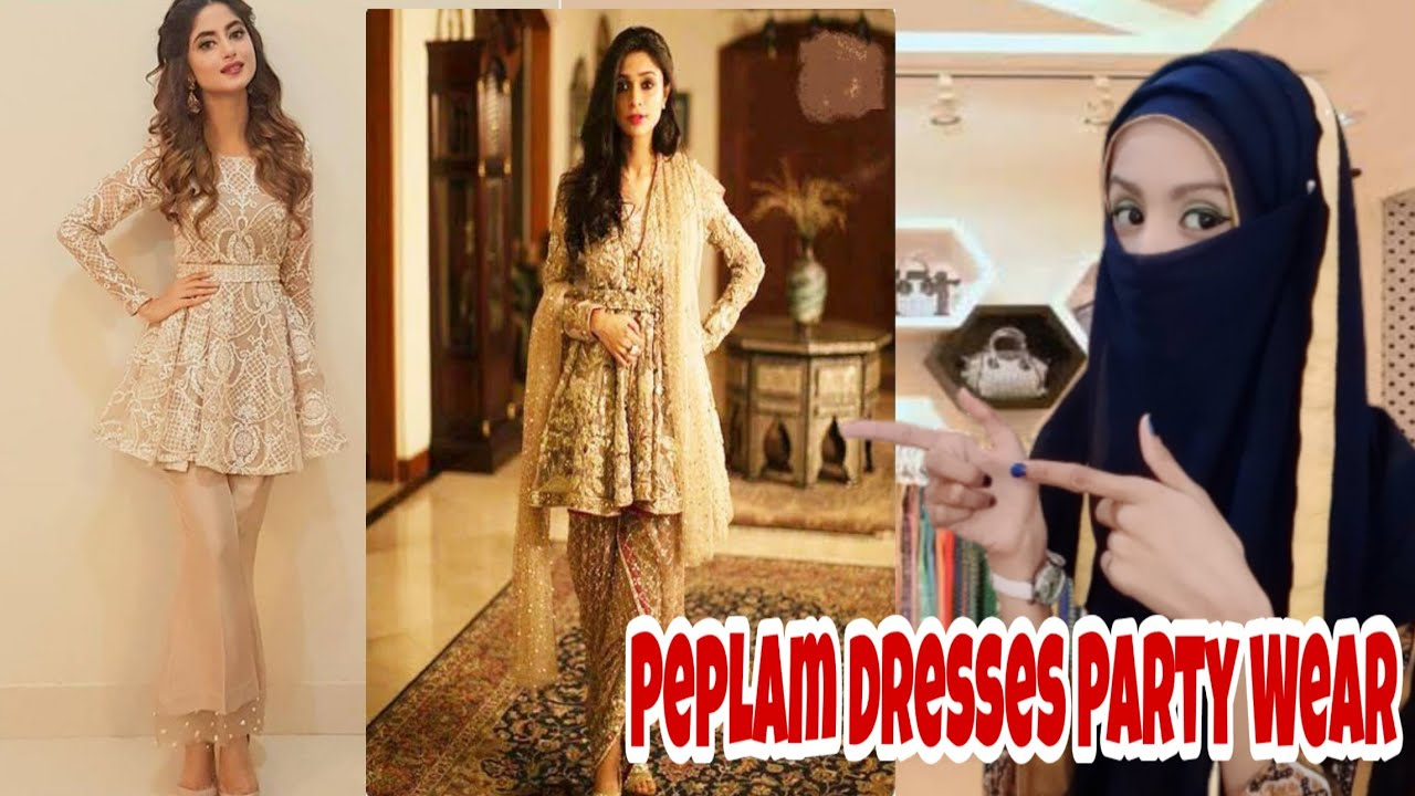 Latest Pakistani Short Frocks Peplum||Top peplum Styles ...