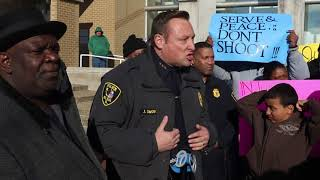 Elgin Police Chief addresses passionate crowd