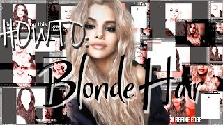 HOW TO: Blonde Hair | Photoshop