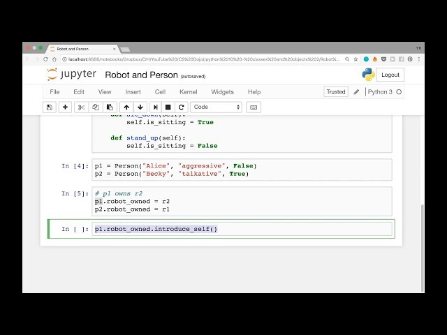 Classes and Objects with Python - Part 2 (Python Tutorial #10)
