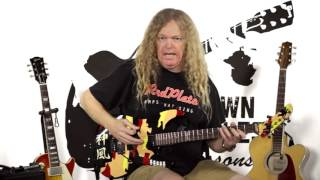 learn drop c rock scale minor arpeggios guitar lessons