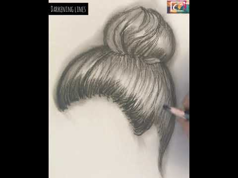 How to draw realistic hair - sketching tutorials thumbnail