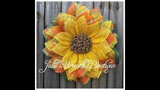 Dollar Tree Frame Wreath / Facebook Live Replay / Large Sunflower Wreath