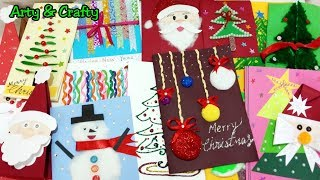 16 DIY Greeting Card Ideas / Christmas Card Ideas For Kids / Handmade Card Tutorial by Arty & Crafty