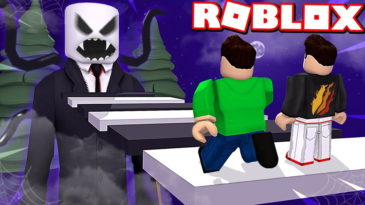 Escape Slenderman Obby In Roblox Scary Youtube