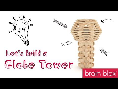 Wooden Building Blocks Build Ideas - Globe Tower