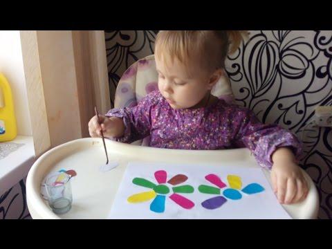 Развивающие игры для детей 1-3 года . Делаем аппликации , учим цвета 🌸🌹🌻🌼🌺🌈🌈🌈