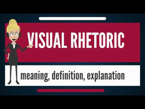 What is VISUAL RHETORIC? What does VISUAL RHETORIC mean? VISUAL RHETORIC meaning & explanation