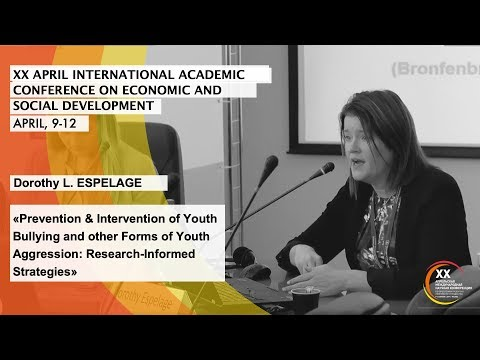 Dorothy L. ESPELAGE: Prevention & Intervention Of Youth Bullying