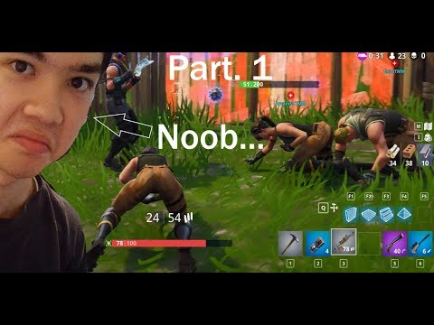 Noob Plays Fortnite gone wrong... | Fortnite (part.1) w/ EnzoTMM & BloxyWinter