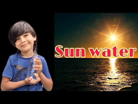 SUN WATER/How to make SUN charged/sun energised water, benef
