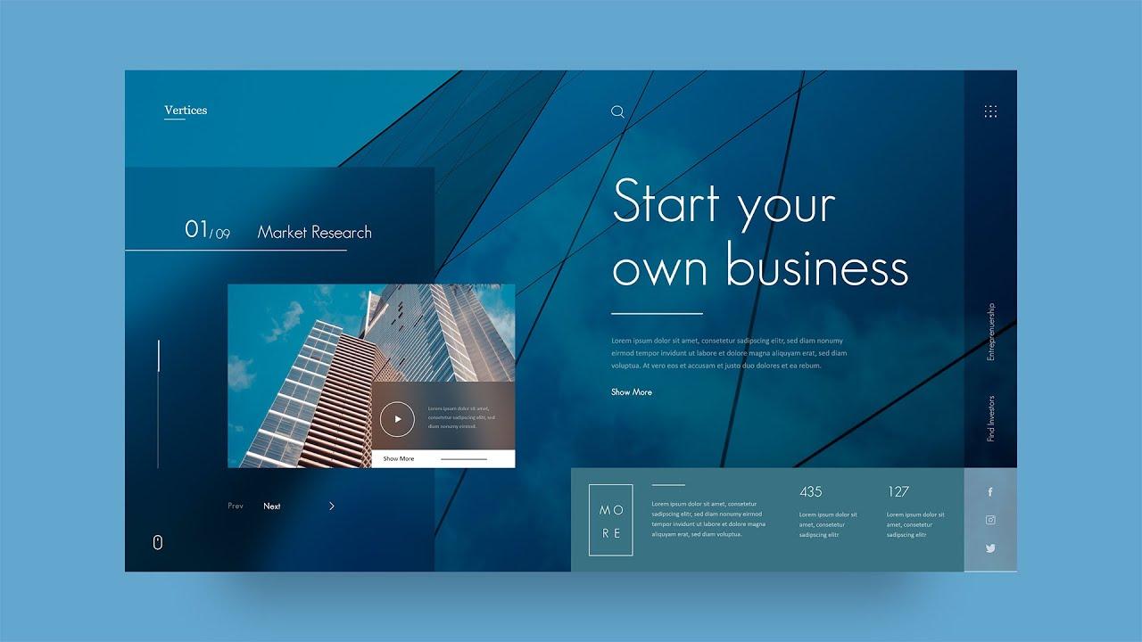 Website UI Design Tutorial   UI Design In Adobe XD