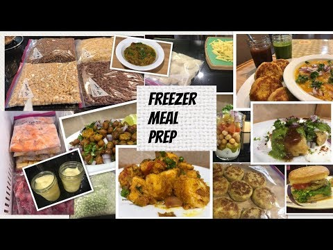 Freezer Meal Prep For Beginners|Indian Meal Prep With Few Recipes Ideas!