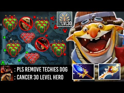2000 IQ Divine Rapier Techies 30 Level Full Bomb 2 Hours Def Enemy Can't Push Imba Hero 7.23 Dota 2