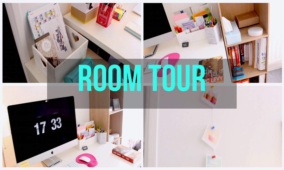 room tour organisation de mon bureau back to school youtube. Black Bedroom Furniture Sets. Home Design Ideas