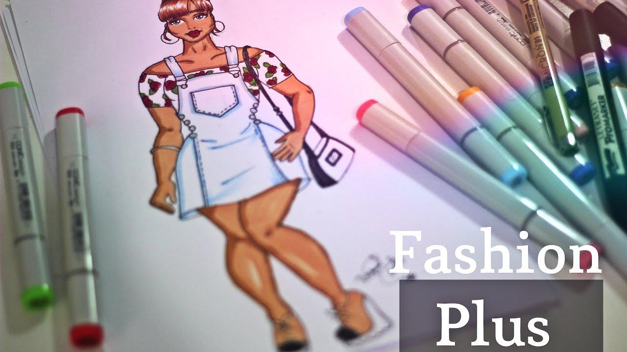 Desenho De Moda Look Plus Size Fashion Youtube