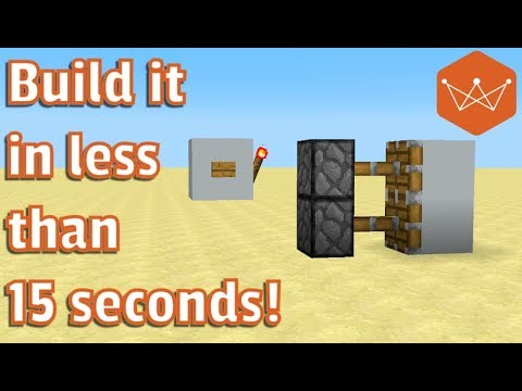 Minecraft Tutorial The Smallest Piston Door In Minecraft 1x2 1 12 Youtube