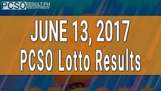 Lotto Result June 13, 2017 (6/58, 6/49, 6/42, 6D, Swertres & EZ2)