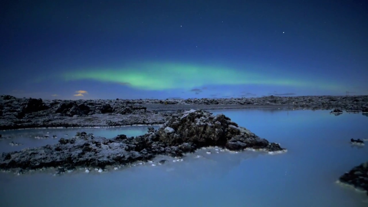 Blue Lagoon Iceland With Northern Lights