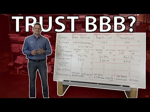Angies List® VS HomeAdvisor® VS Thumbtack® can we Trust BBB?