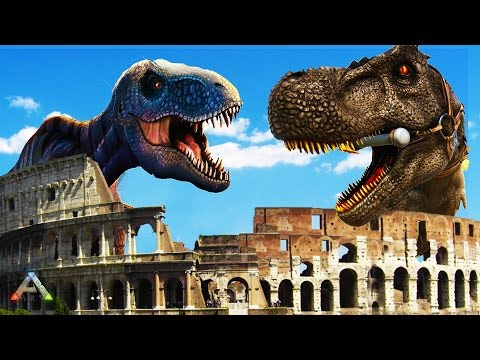 ARK SURVIVAL: DINO WARS - BUILDING A COLOSSEUM - ARK SURVIVAL SCORCHED EARTH FUNNY MOMENTS & FAILS
