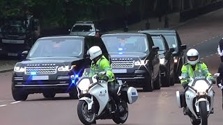 Metropolitan Police Special Escort Group escorting Royal Family