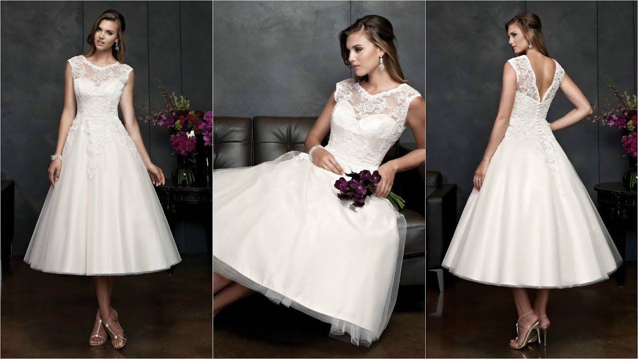 Tea Length Wedding Dresses Style