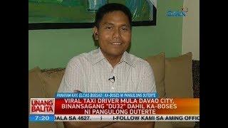"""Viral taxi driver mula Davao City, binansagang """"Du32"""" dahil ka-boses ni Pangulong Duterte"""
