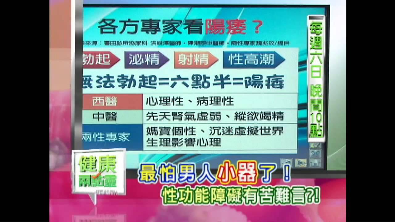 Download 健康兩點靈2013/10/27(日)22:00 男人的鳥事-性功能障礙 精彩預告