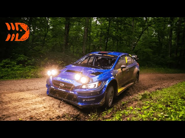 Subaru Struggling at Southern Ohio Forest Rally 2021