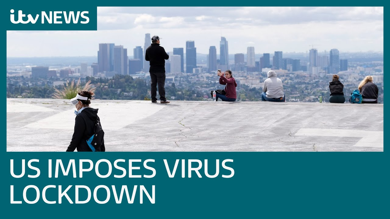Coronavirus: California is in lockdown with 40 million ordered to stay home | ITV News - YouTube