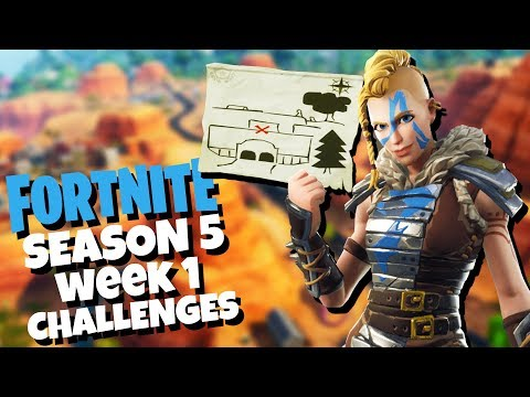 Follow The Treasure Map In Risky Reels! - Fortnite Season 5 Challenges Week 1 - Secret Star Location