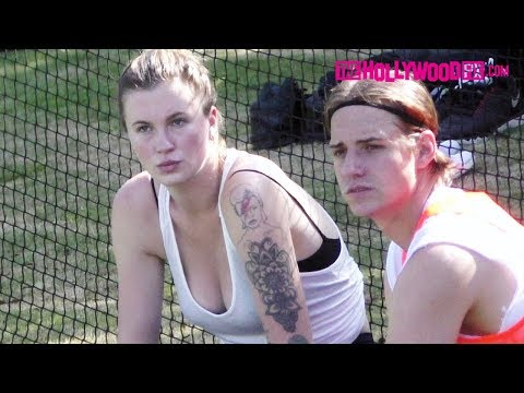 Ireland Baldwin Shows Off Her Tattoo's On The Sidelines At Local Soccer Pick-Up Match 8.25.18