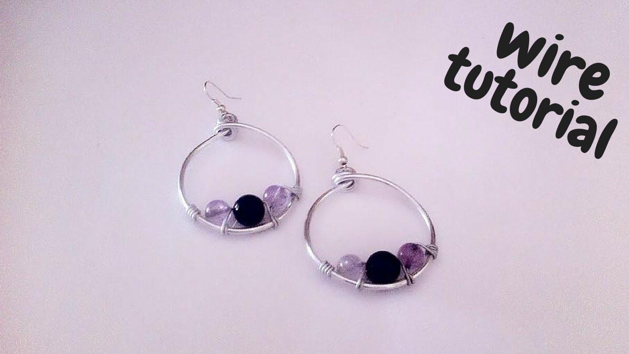 Tutorial wire earrings orecchini in wire alluminio e for Orecchini con pietre dure fai da te