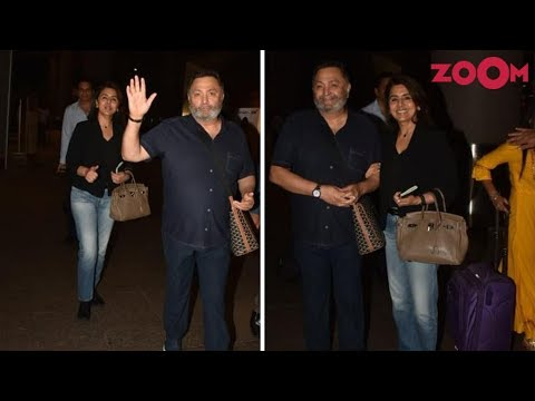Rishi Kapoor returns from New York with Neetu Singh after 11 months | Bollywood News Mp3