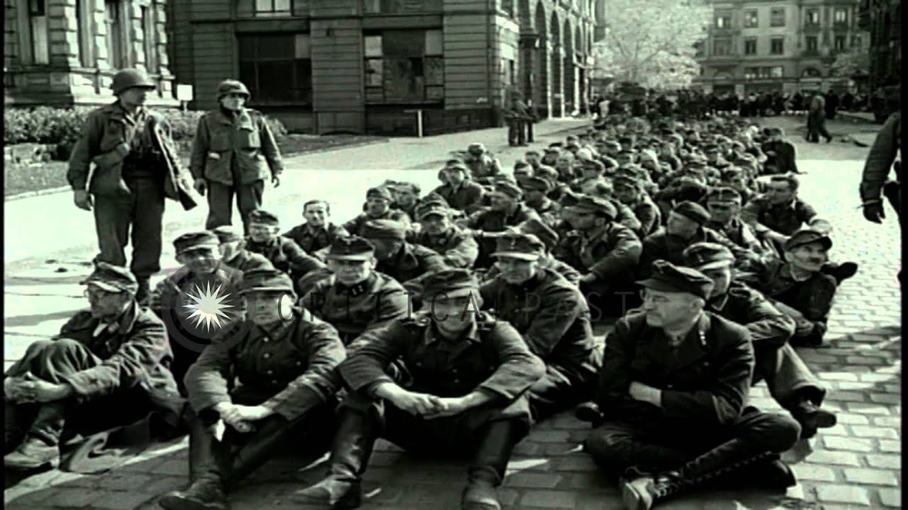 German soldiers after being taken as prisoners in germany during german soldiers after being taken as prisoners in germany during world war ii hd stock footage youtube altavistaventures Gallery