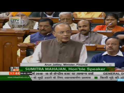 FM Shri Arun Jaitley's reply on discussion on General Budget 2018-19 : 08.02.2018