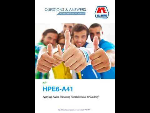 Dont worry about HPE6-A41 exam - porumbeinunta