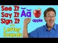Download mp3 See It, Say It, Sign It | Letter Sounds | ASL Alphabet for free