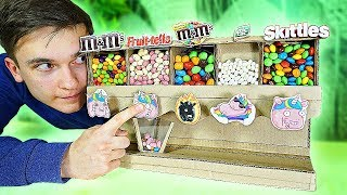 как сделать автомат для конфет из картона