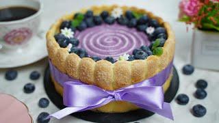 Мерная чашка / Рецепт торта Шарлотта с черникой / Чизкейк с черникой / Blueberry Cake