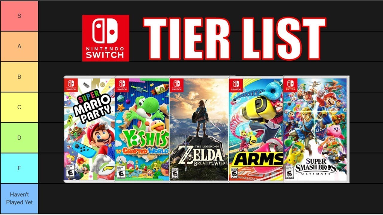 Ranking Every Nintendo Switch Game Nintentalk Youtube