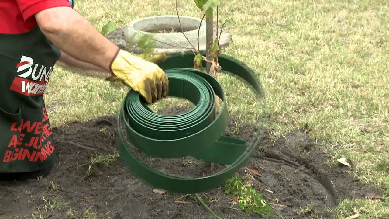 How To Install Garden Edging Around A Tree Diy At Bunnings