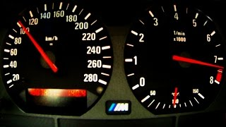 BMW M3 E36 Acceleration 0- + SHIFT DOWN 3.2L Onboard Sound Autobahn Highway