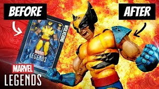 HOW TO PAINT: WOLVERINE MARVEL LEGENDS 12 INCH ACTION FIGURE
