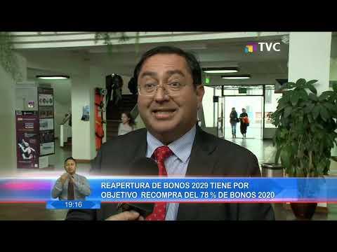 Reapertura De Bonos 2029, Tiene Por Objetivo Recompra Del 78% De Bonos 2020