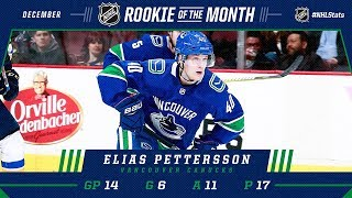 Elias Pettersson earns December Rookie of the Month honors