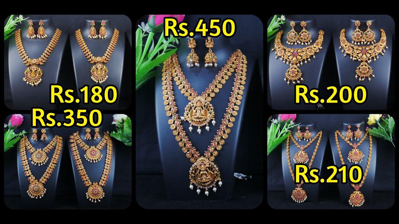 Rs.180 Onwards | Necklace Sets/Combo Sets/Semi Bridal Sets @ Wholesale Price | Jewel House Sowcarpet