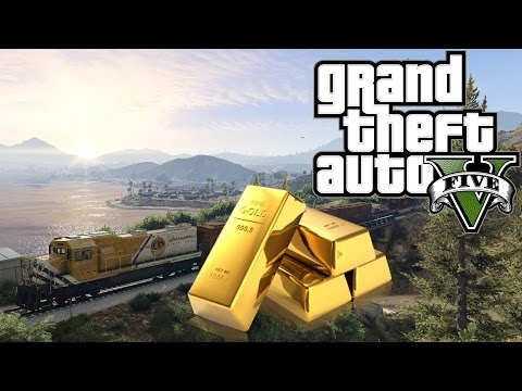 GTA 5 - ÜBERFALL auf den GOLD-ZUG ◄#53► Let's Play Grand Theft Auto V | PC Version